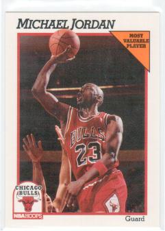 1991-92 NBA Hoops Michael Jordan Most